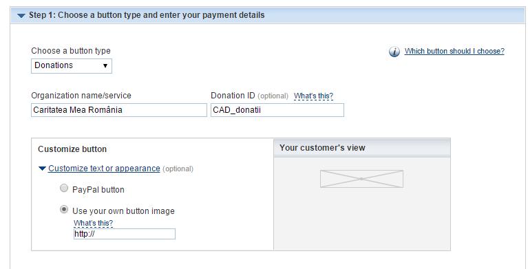 Cum să creezi buton de Donații