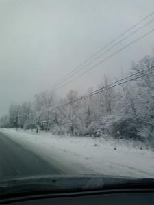 Strada din Canada, Iarna