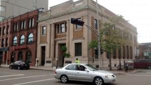 Clădiri vechi(uțe) în centrul Charlottetown-ului.