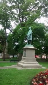 Parcul din centrul Saint John, mai mic decât Copoul.
