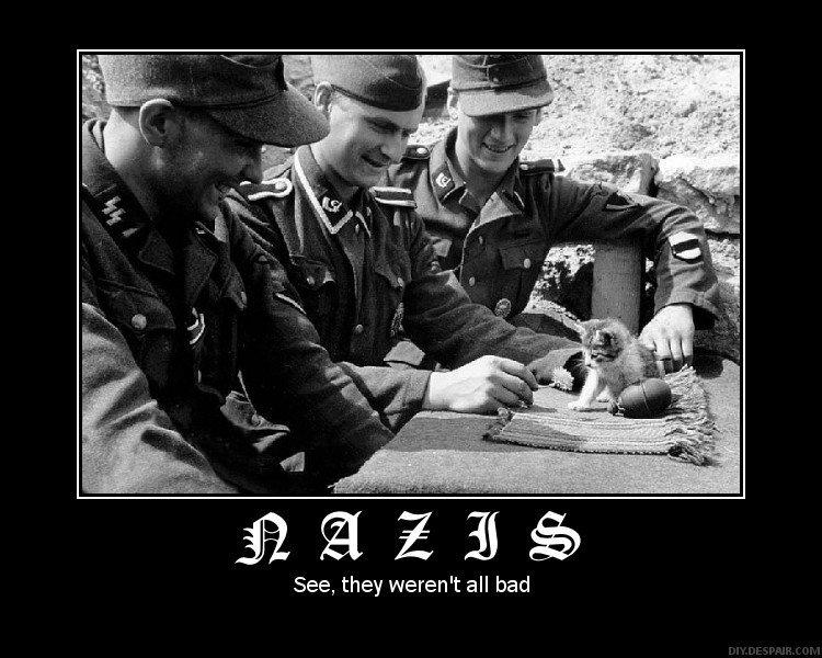Naziștii: vezi, nu erau toți răi! Dacă ne mai gândim și la vegetarianul care iubea câinii pe nume Hitler, e clar!